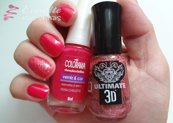 Rosa Chiclete (Colorama) e Fireworks (Top Beauty)