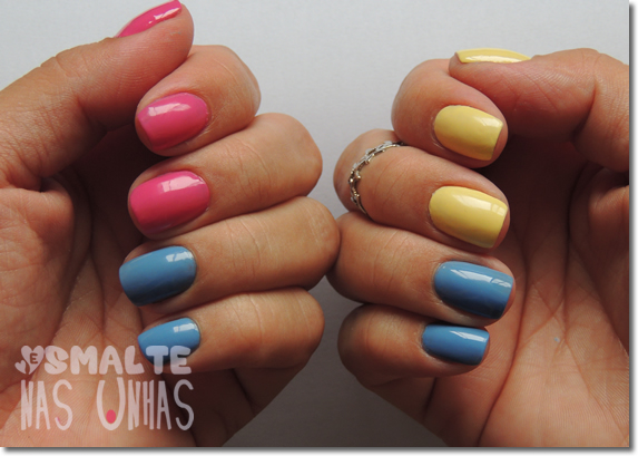 Color Blocking com esmaltes Colorama