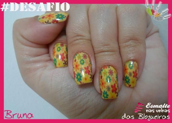 Unha 3 - Flores - Bruna