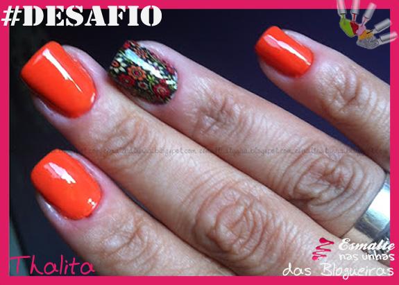 Unha 3 - Flores - Thalita