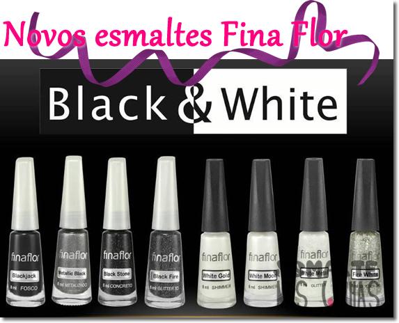 Coleção Fina Flor - Black and White